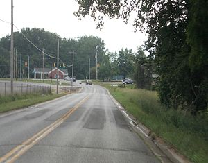 Tippecanoe Township, Kosciusko County, Indiana - Looking west on Epworth Forest Road in North Webster, in Tippecanoe Township