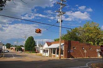 Mississippi Highway 2 - Intersection of MS 2 and CO 604 in Kossuth