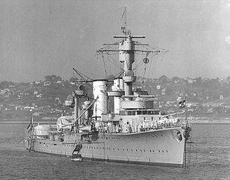 German cruiser Karlsruhe - Karlsruhe in San Diego in 1934