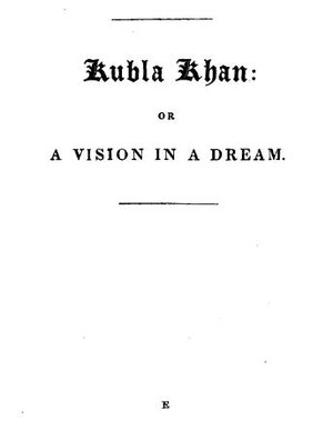 English: Titlepage of Kubla Khan.