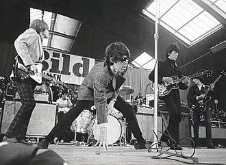 Brian Jones - Jones (left) with The Stones in Stockholm (1966)