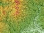 Kusatsu-Shirane Volcano Relief Map, SRTM-1.jpg