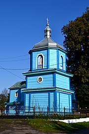 Kvasiv Horokhivskyi Volynska-Bell tower of Church of the Transfiguration-south-east view.jpg