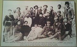 משה ברמן יחד עם חברי חוות כנרת