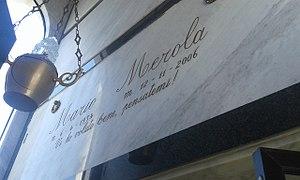 Mario Merola (singer) - Mario Merola's gravestone in Naples, Campania, Italy