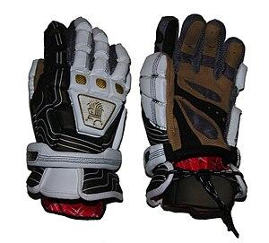 English: Brine lacrosse gloves