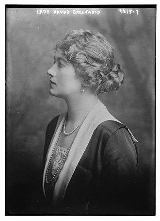 Hamar Greenwood, 1st Viscount Greenwood - Lady Greenwood in 1918