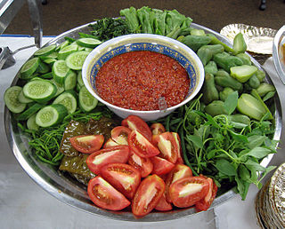 Lalab Indonesian traditional raw vegetable