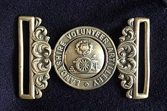 8th Lancashire Artillery Volunteers - 19th Century waistbelt of the Lancashire Volunteer Artillery