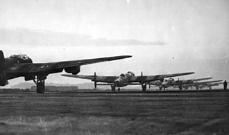 Operation Robinson - Lancasters prepare to take off in the afternoon