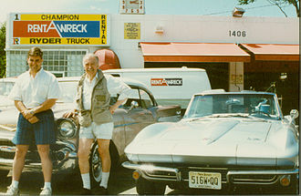 Rent-a-Wreck - The Kirmsee Family has owned and operated Rent-A-Wreck in Cherry Hill, New Jersey since 1979. Here father and sons Lanse and Howard pose with a Sting Ray and a Chevrolet.