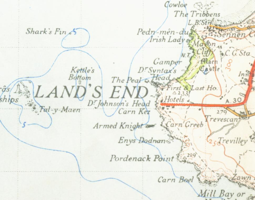 Lands end map1946