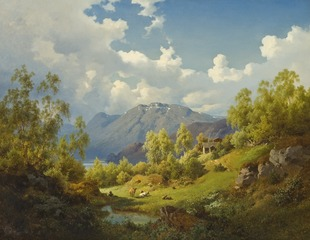 Landscape. Motif from the Numme Valley in Norway
