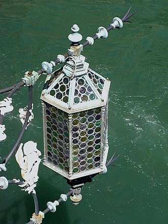 Lantern - Lantern on canal in Venice, Italy