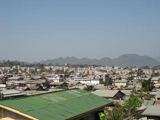 Lashio Town in Shan State, Myanmar