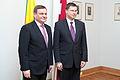 Latviju oficiālā vizītē apmeklē jaunievēlētais Lietuvas Seima priekšsēdētājs (8267123950).jpg