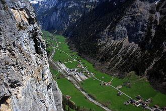 Lauterbrunnen - Lauterbrunnen Valley view from cable car