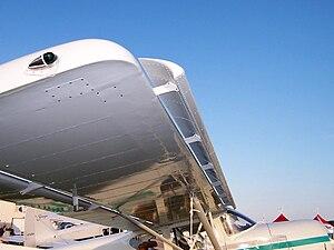 Leading edge slot - A leading edge slot on a STOL aircraft.