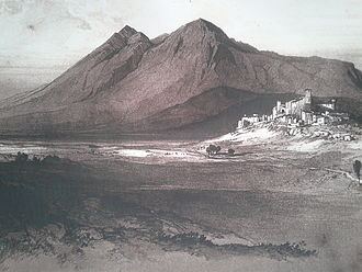 Conrad of Antioch - Castle and town of Alba as depicted prior to modernisation in the 19th century