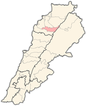 Bsharri District - Image: Lebanon districts Bsharri