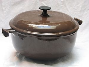 Cast-iron cookware - An enameled cast-iron pot