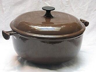 Cast-iron cookware - An enameled cast-iron pot