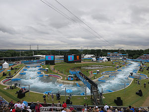 Lee Valley White Water Centre - 2012 Olympic Games, 31 July.