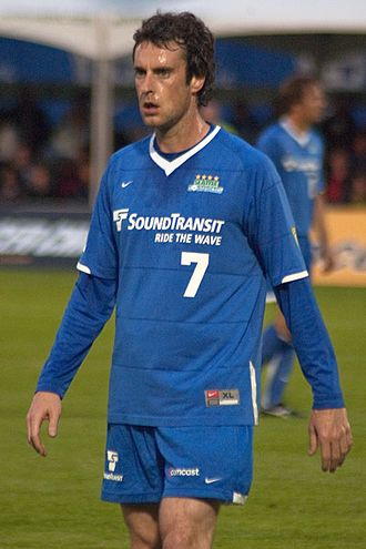 Seattle Sounders (1994–2008) - Leighton O'Brien in the Seattle Sounders strip.