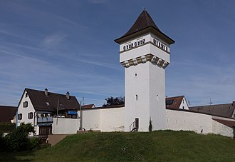 Leipheim - Image: Leipheim, der Hauselersturm Dm D 7 74 155 35 foto 2 2016 08 03 09.59
