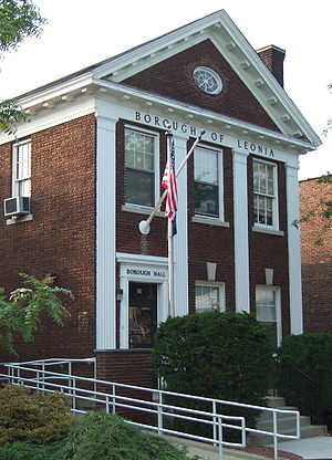 Photo of the Borough Hall in Leonia, New Jersey.