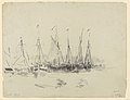 Les barques, drawing by James Ensor, Prints Department, Royal Library of Belgium, S. IV 14719.jpg