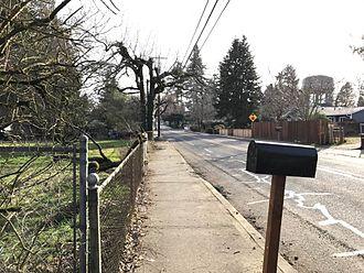 Milwaukie, Oregon - A street in the Lewelling Neighborhood.