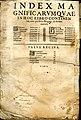 Liber Magnificarum. Índice Zaragoza. 1614.jpg