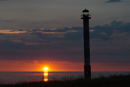 Sunset at Kiipsaare Lighthouse