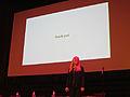 Lila Tretivov - Thank you - Wikimania 2014 Keynote - 09 August 2014.jpg