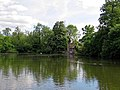 Lilypond Cottage fishing lodge and lake at Matching, Essex, England.jpg