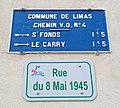 Limas - Rue du 8-Mai-1945 - Plaque de cocher.jpg