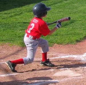 Bunt (baseball) - A Little League baseball player squares around to bunt.