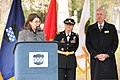Liz Lempert, left, the mayor of Princeton, N.J., speaks during a wreath-laying ceremony for President Grover Cleveland as the members of the official party, U.S. Army Brig. Gen. Michaelene Kloster, center, the 130318-A-VX676-005.jpg