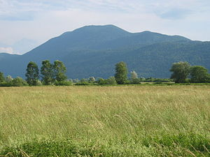 Mount Krim - View of Mount Krim from the Ljubljana Marshes