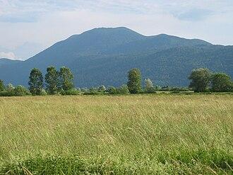 Mount Krim - View of Mount Krim from the Ljubljana Marshes