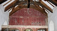 Brightly-painted rood screen