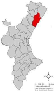 Plana Alta Comarca in Valencia, Spain