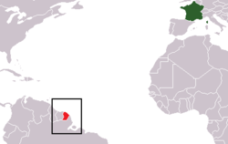 Location of Guyana Perancis