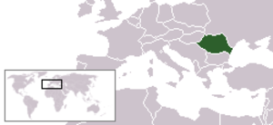 Outline of Romania - The location of Romania