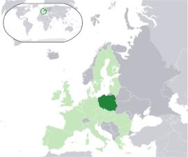 폴란드의 위치