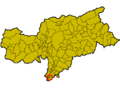 Location of Kurtinig (Italy).png