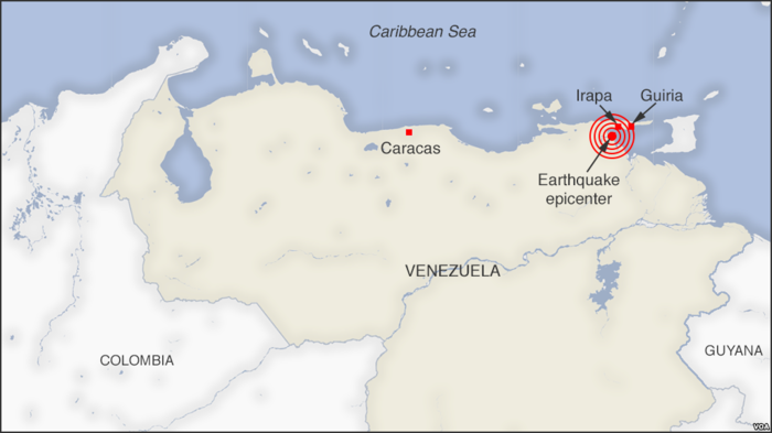 Location of the Venezuela earthquake of 2018.png