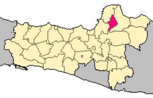 Kudus Regency - Image: Locator kabupaten kudus
