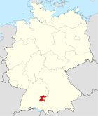Locator map UL in Germany.svg